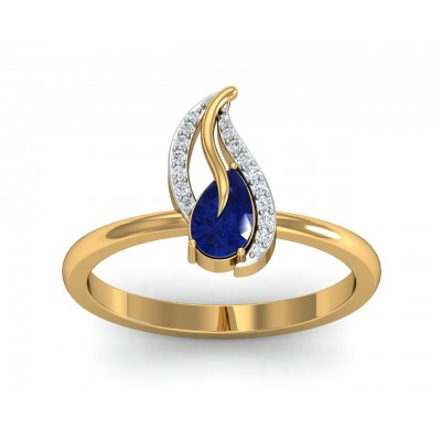 Sary Blue sapphire & diamond Ring in gold